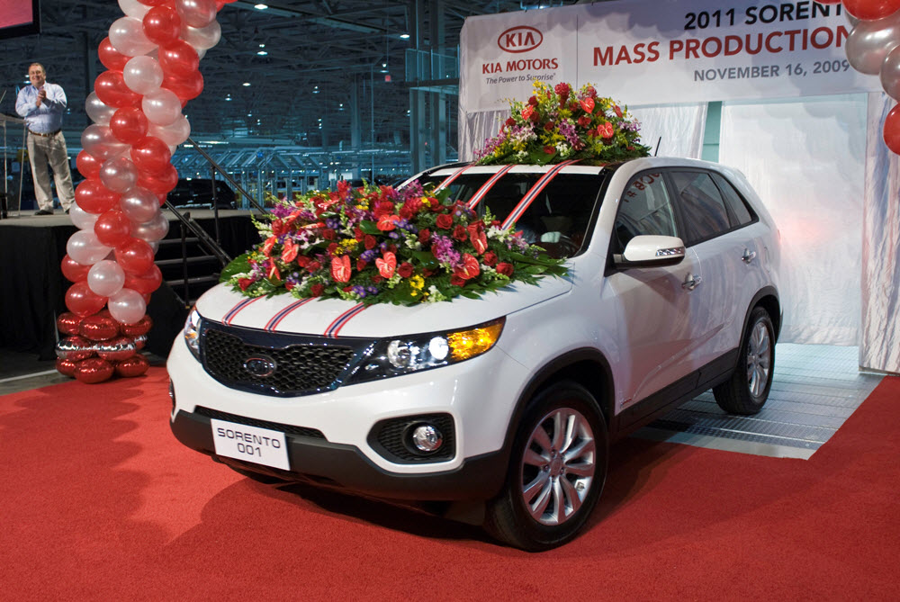 All new Sorento first vehicle built at the  1 billion
