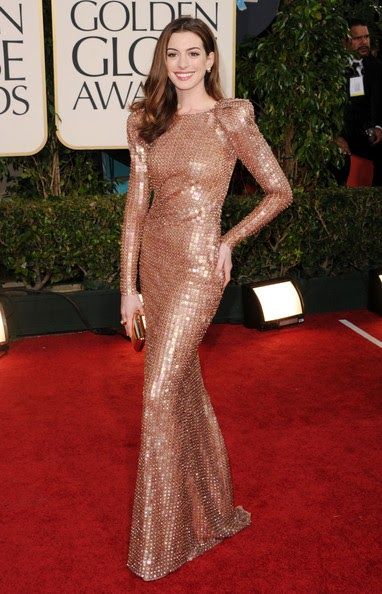 Anne Hathaway 68th Annual Golden Globe Awards. Anne Hathaway looked nothing