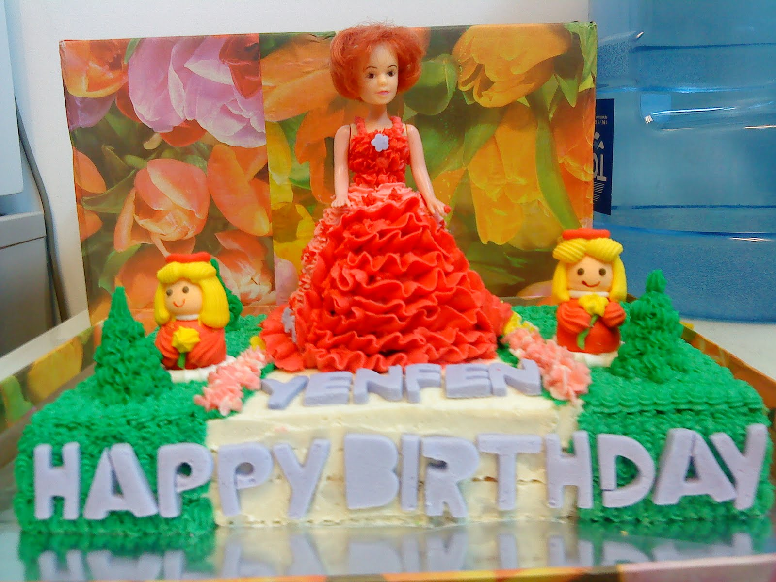 Azlina Home Cakes Birthday Cake Doll In The Garden