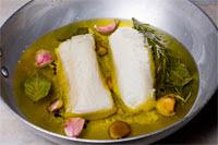 receitas de fettuccine de bacalhau e verduras