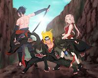 Naruto, Sasuke, and Sakura Akatsuki