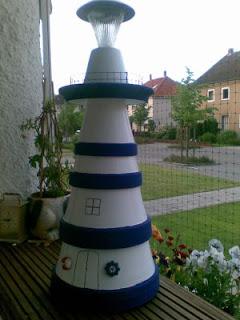 Rosi s hobbykiste mein leuchtturm - Qs gartendeko ...