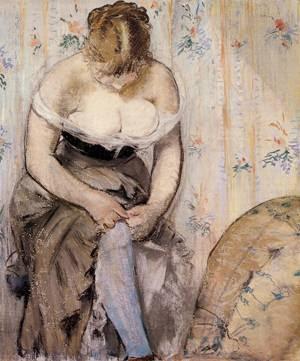 Edouard Manet - Woman fastening her garter - 1878