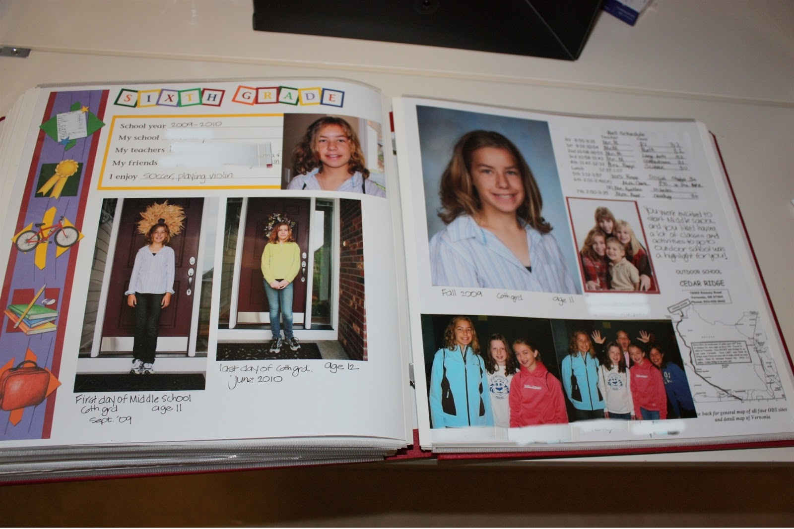 How to scrapbook school years - I Include Clear Pocket Pages For Brochures And Memorabilia Or Artwork I Keep A File Folder Handy For Each Child And During The School Year Will