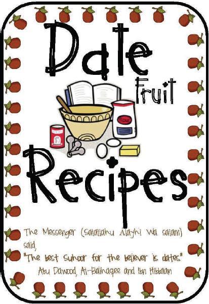 Creative Recipe Book Cover : Date recipe book for kids umm abdul basir s creative corner