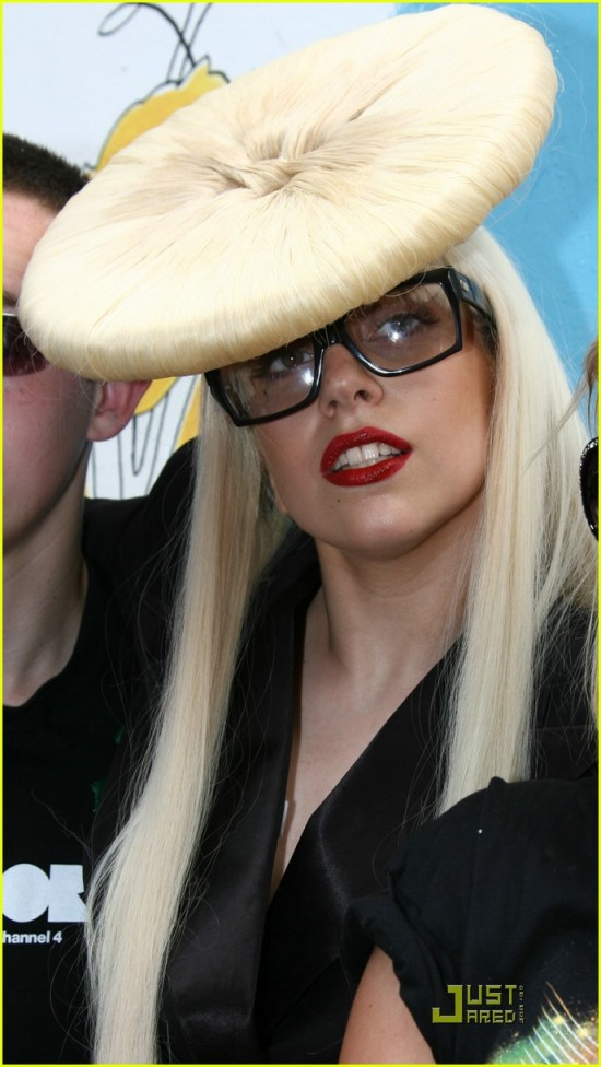 Lady GaGa with Hair Bow.