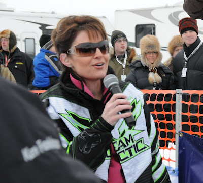 Sarah Palin, Irondog snowmachine race, January 2009