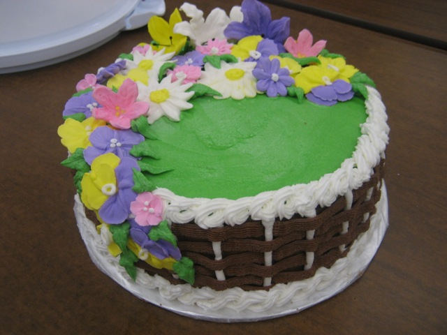 How To Make A Basket Of Flowers Cake : My mom makes cakes week basket cake