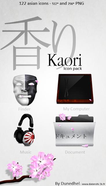 Kaori iconos rocketdock objectdock pepua personalizacion