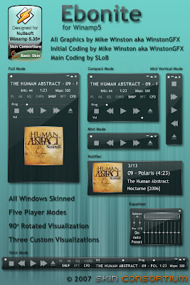 Ebonite para Winamp Media Player Pepua Personalizacion y Seguridad