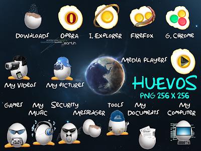 Iconos de dock Huevos por Pepua Personalizacion y Seguridad
