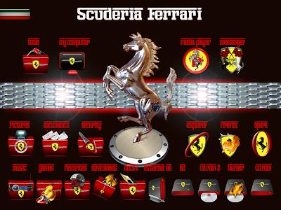 Ferrari iconos - personalizacion y seguridad