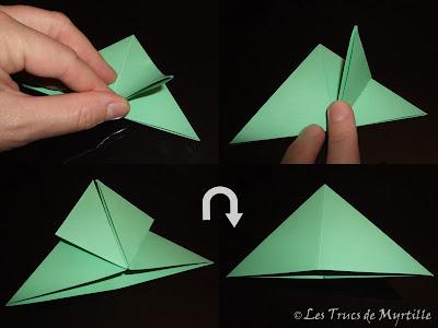 Les trucs de myrtille plier une grenouille vite fait - Origami facile grenouille ...