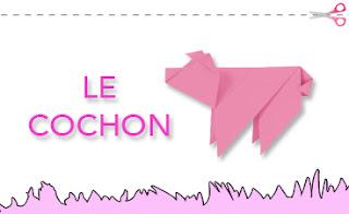 Origami : le cochon (bhv.fr)