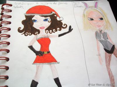 Les trucs de myrtille habiller des top models pour halloween - Coloriage top model a habiller ...