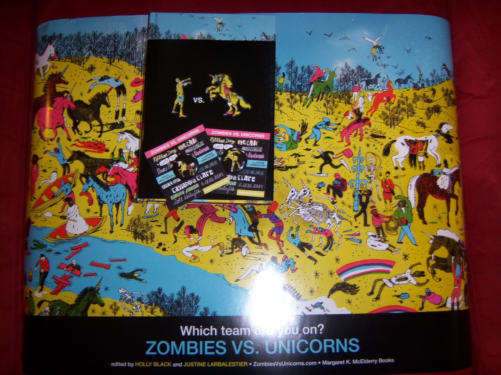 Simon Schuster Also Sent This Awesome Zombies Vs Unicorns Prize Pack With Two Poster And Four Buttons The Book Of Course