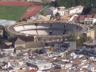 El Coso de La Alameda visto desde el Castillo de Santa Catalina