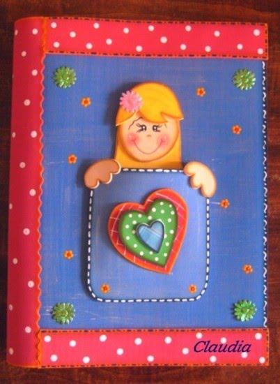 lindas manualidades: Mis cuadernos decorados con foamy