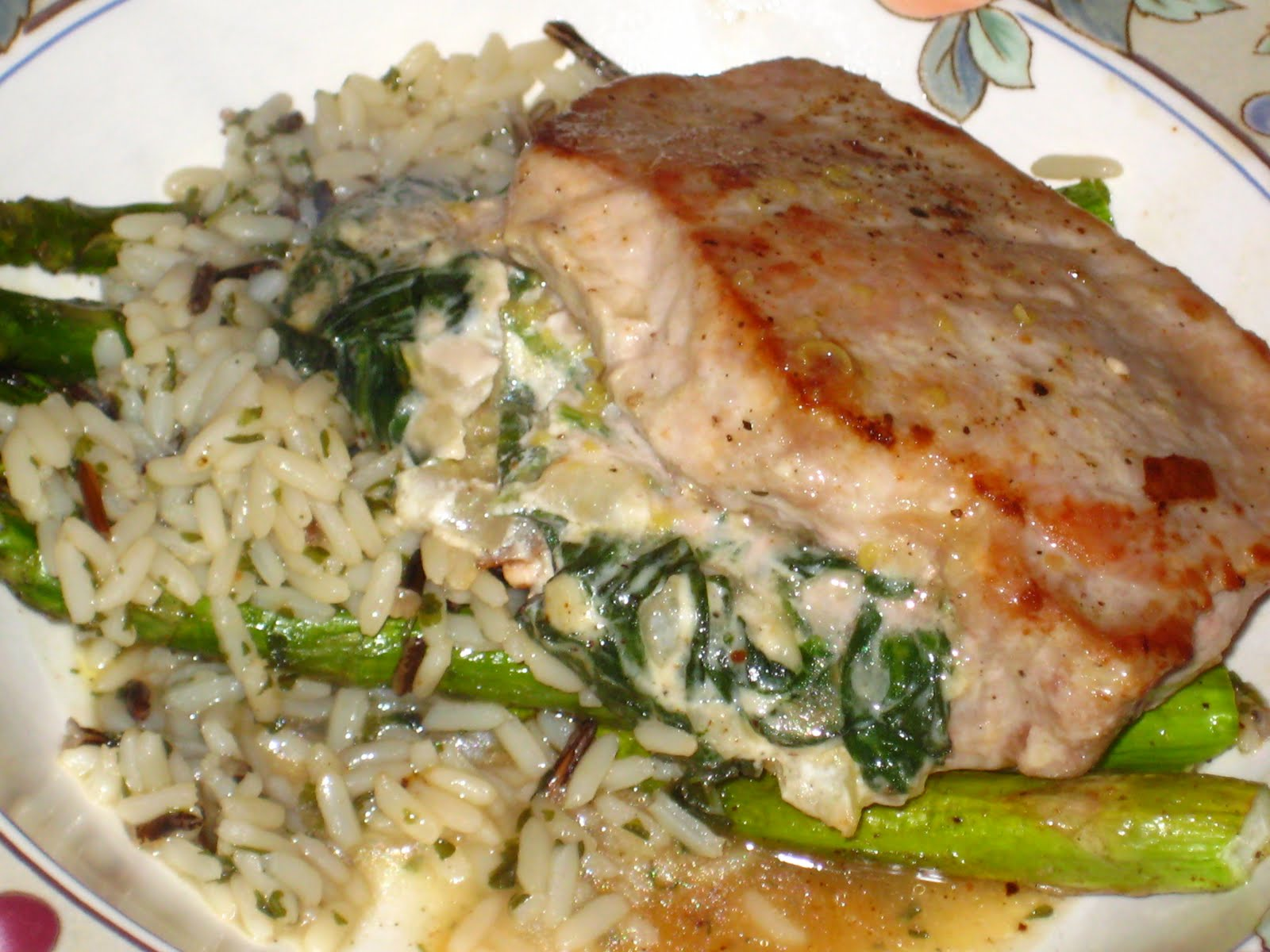 Spinach and Goat Cheese Stuffed Pork Chops | Tara Takes the Cake