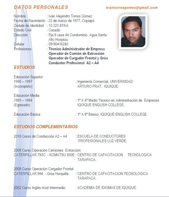 aqui podra descargar mi curriculum vitae pdf images