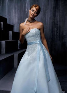 Couture bridal gowns blue wedding dress