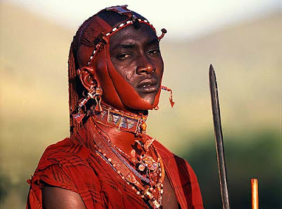 african tribes man warriors