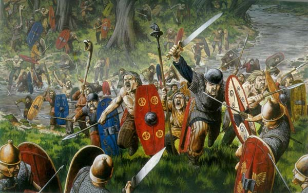 Celtic warrior weapons were the usual: swords spears hammers and axes ...