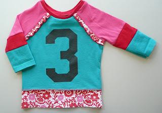 upcycled recycled birthday shirt