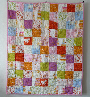 far far away Heather Ross patchwork quilt