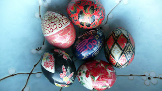 Easter eggs washi paper tutorial