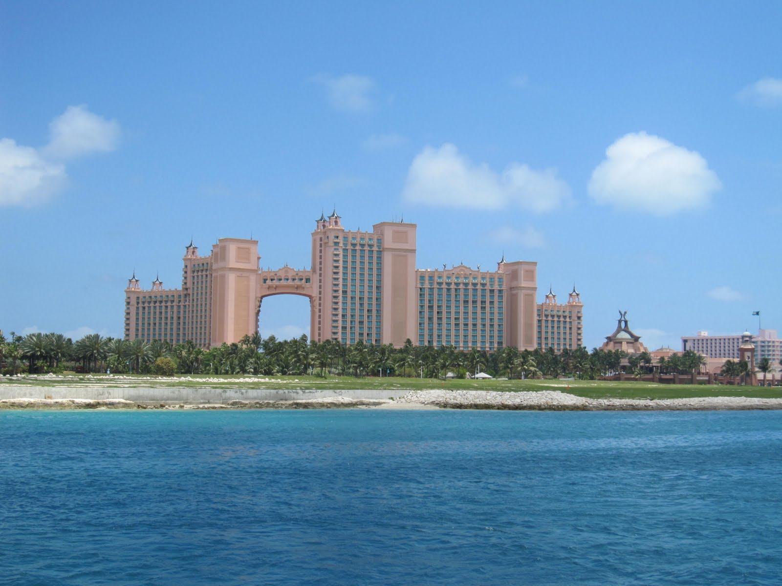 View of the massive Atlantis complex, as seen from our anchorage