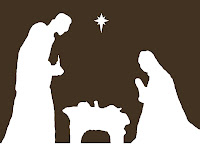 graphic about Free Printable Silhouette of Nativity Scene named Kinzies Kreations: Nativity Totally free Printable