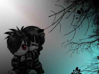 anime emo love wallpaper. hot emo love wallpaper