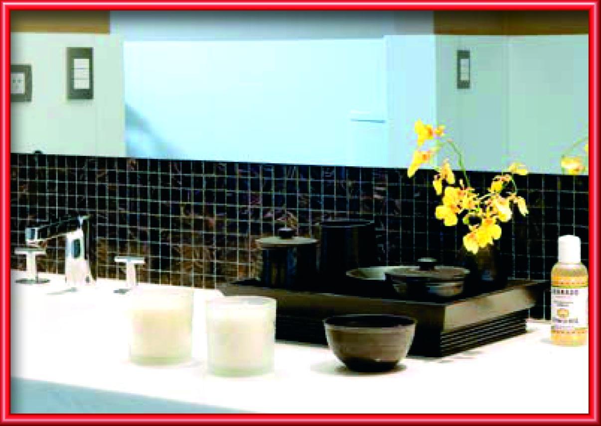 Possuem certa transparência. Esta característica combinada ao uso de  #A63825 1206x856 Banheiro Com Revestimento De Vidro