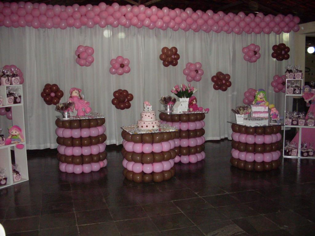 decoracao festa vovó:Decoracao De Festa Marrom Rosa