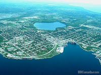 Aerial View of Midland Ontario