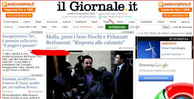 L&#8217;arresto dei mafiosi; Il Giornale d notizia 2 ore prima