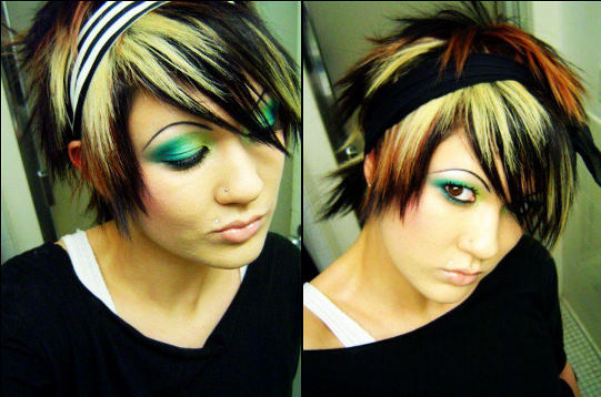 cute emo hair color ideas. emo hair color pictures.
