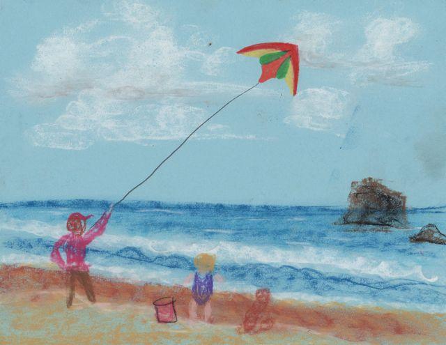 Creator S Joy Kites At The Coast Drawing Idea