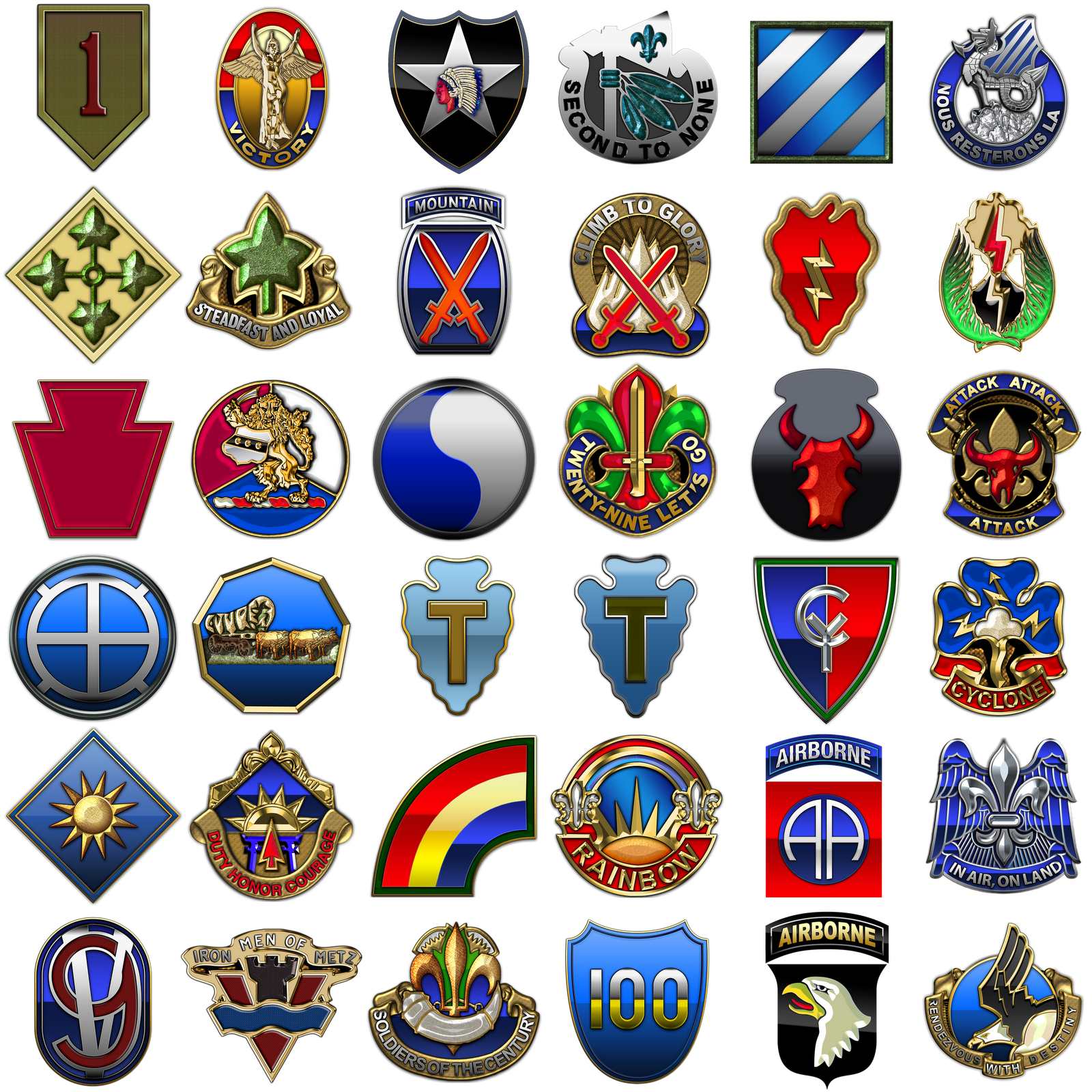 Military insignia 3d us army infantry divisions one more chapter of my military insignia project has been completed this time around i have taken on shoulder sleeve insignias and distinctive unit biocorpaavc