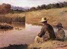 pai e filho pescando