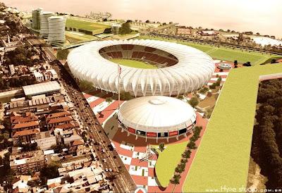 As 12 cidades sedes da Copa 2014.