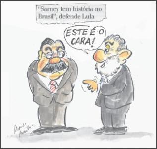 Lula o amigo de Sarney.