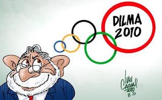 O sonho olímpico de Lula, charge