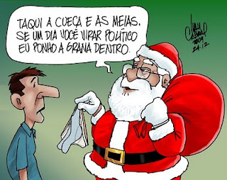 Meias e Cuecas no Natal, charge.