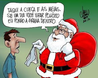 Meias e Cuecas no Natal, charge.