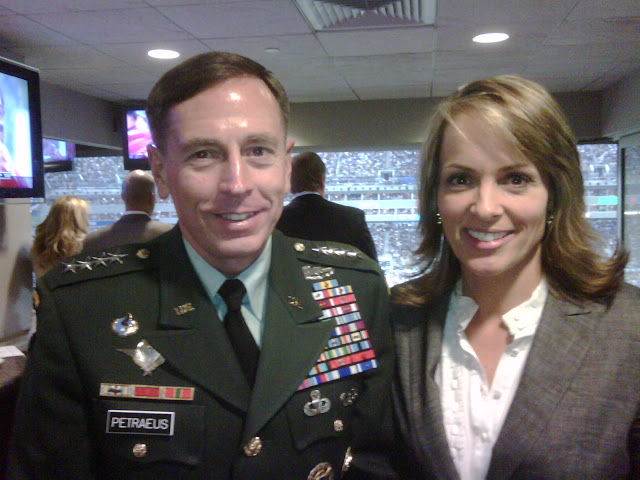 Jane skinner with General Petraeus