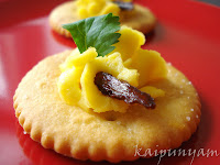 Canapé with Egg Topping
