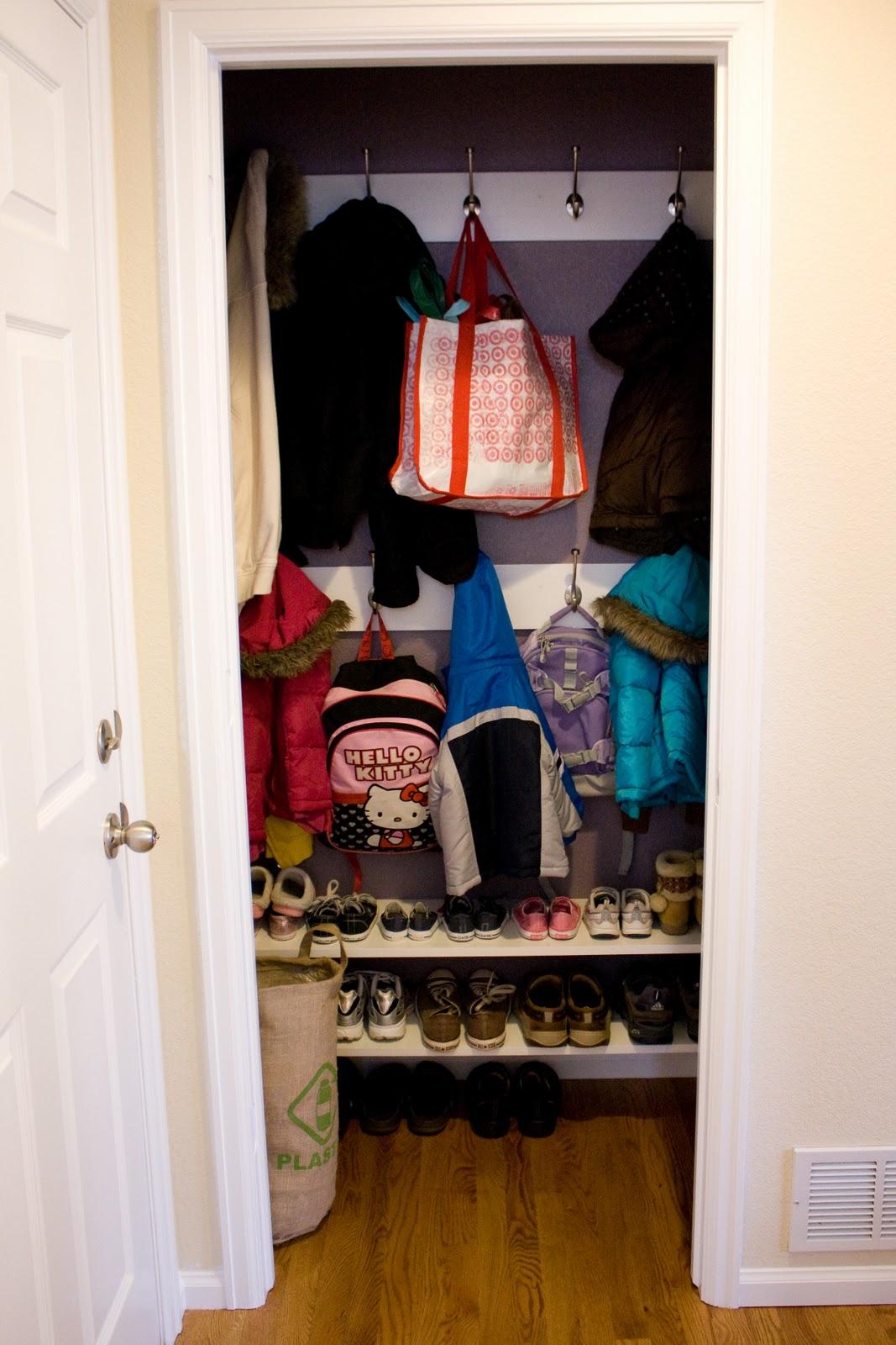 Foyer Closet Zone : Remodelaholic reinterpreting the hall closet to a mini