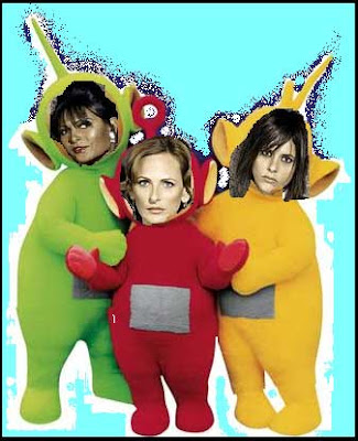 PG, Marlee Matlin, KM, as PBS Teletubbies!